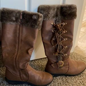 Brown Forever 21 boots. Size 6